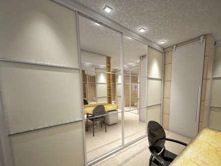 Suíte Master: Casas de banho ecléticas por Studio Bossa Decoração de Interiores