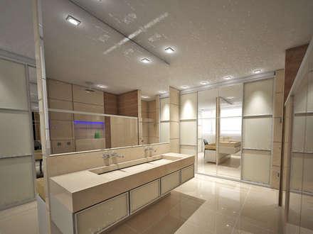 Suite Master: Casas de banho ecléticas por Studio Bossa Decoração de Interiores