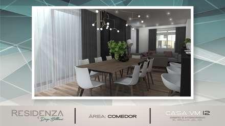 COMEDOR: Comedores de estilo moderno por Residenza by Diego Bibbiani
