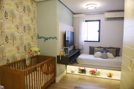 комнаты для новорожденных в . Автор – Lorena Porto - Arquitetura e Interiores