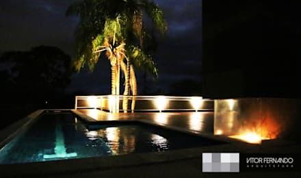 Piscinas infinitas de estilo  por VITOR FERNANDO Architecture