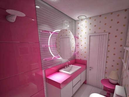 Casa de Banho : Casas de banho ecléticas por Studio Bossa Decoração de Interiores