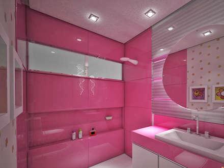 Casa de Banho: Casas de banho ecléticas por Studio Bossa Decoração de Interiores