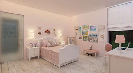 Интерьер детской для девочки: Спальни для девочек в . Автор – Аnna Knysh