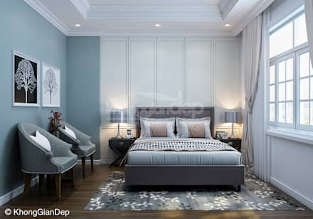 Phòng ngủ:  Phòng ngủ by Công ty cổ phần đầu tư xây dựng Không Gian Đẹp