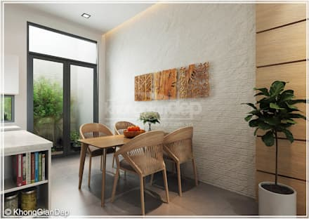 rustic Dining room by Công ty cổ phần đầu tư xây dựng Không Gian Đẹp