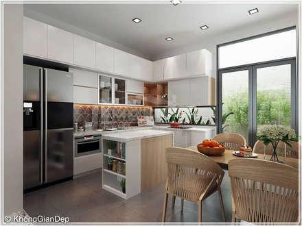 Phòng bếp:  Nhà bếp by Công ty cổ phần đầu tư xây dựng Không Gian Đẹp