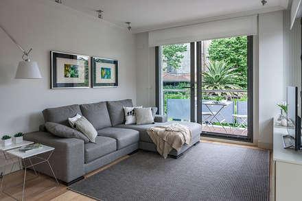saln con terraza salones de estilo moderno de estibaliz martn interiorismo - Interiorismo Salones