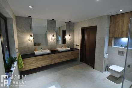 industrial Bathroom by MARTA PAWLAK  ARCHITEKTURA  WNĘTRZ