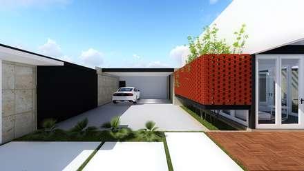 Garajes abiertos de estilo  por BOCA ARQUITECTOS