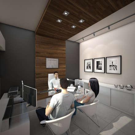 Espacios comerciales de estilo minimalista arquitectura for Muebles para oficina estilo minimalista
