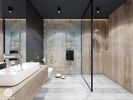 industrial Bathroom by MADO DESIGN