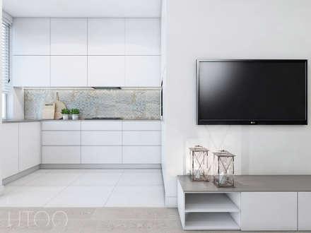 CAPPUCCINO Z NUTĄ LOFTU: styl , w kategorii Kuchnia zaprojektowany przez UTOO-Pracownia Architektury Wnętrz i Krajobrazu