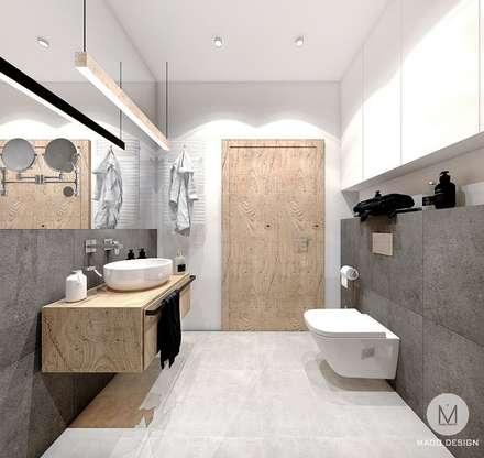 PROJEKT MIESZKANIA 54 m2 / KRAKÓW / ZABŁOCIE: styl , w kategorii Łazienka zaprojektowany przez MADO DESIGN