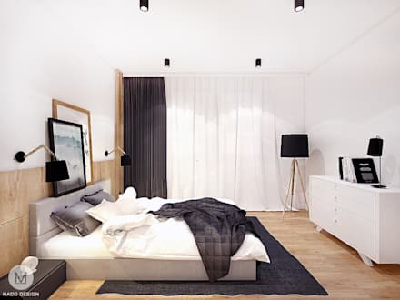 industrial Bedroom by MADO DESIGN