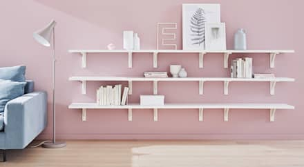 BOARD+COUNTRY Cut to Size Shelves: scandinavian Living room by Regalraum UK