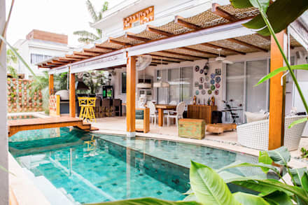 Piscinas de jardín de estilo  por VN Arquitetura