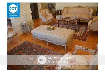 :  غرفة المعيشة تنفيذ DOT Architecture and Interior