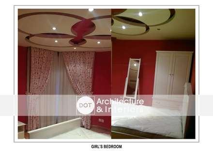 :  غرفة نوم تنفيذ DOT Architecture and Interior
