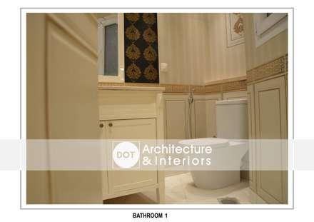 :  حمام تنفيذ DOT Architecture and Interior