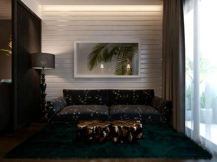 Masteri Thao Dien Apt.:  Phòng khách by BROS.studio