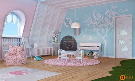 Детская для маленькой принцессы: Спальни для девочек в . Автор – Art-i-Chok