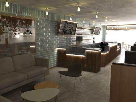 Sala Restaurante: Comedores de estilo ecléctico por Bustos + Quintero arquitectos