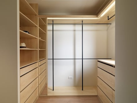 غرفة الملابس تنفيذ 木皆空間設計
