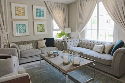 eclectic Living room by Harf Noon Design Studio