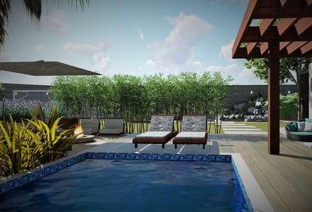 Садовые бассейны в . Автор – Trivisio Consultoria e Projetos em 3D
