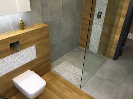łazienka: styl , w kategorii Łazienka zaprojektowany przez Fabryka Wnętrz