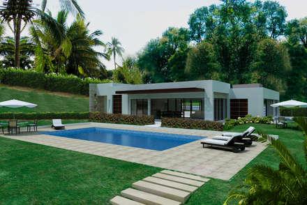 Moderner Pool Von Arquitectos Y Entorno S.A.S