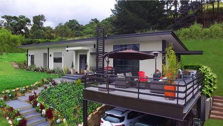 : Casas de estilo moderno por Arquitectos y Entorno S.A.S