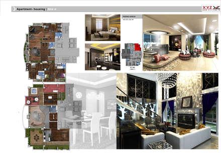 Penthouse Vankhe-Neoclassic style:  Phòng khách by Công ty cổ phần X.Y.Z