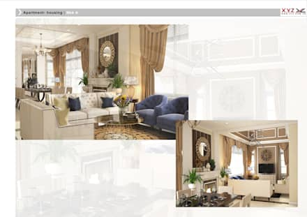 Villa Splendora-Neoclassic style:  Phòng khách by Công ty cổ phần X.Y.Z