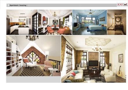 Villa Vanquan-neoclassic style:  Phòng khách by Công ty cổ phần X.Y.Z