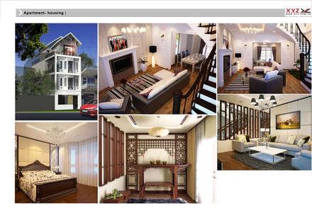 Housing Phuthai haiduong-Retro style:  Phòng khách by Công ty cổ phần X.Y.Z