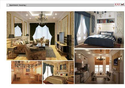 Housing Phuthai Haiduong-neoclassic style:  Phòng khách by Công ty cổ phần X.Y.Z