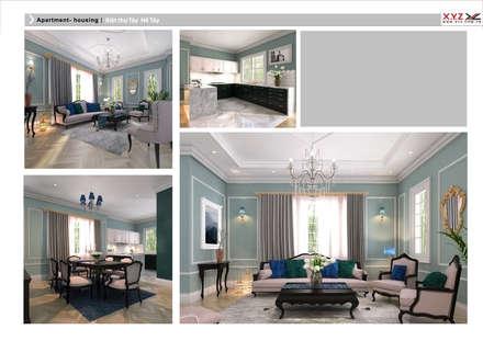 Tay Ho housing-Neoclassic style:  Phòng khách by Công ty cổ phần X.Y.Z