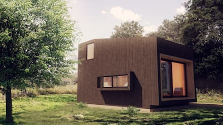Vista Exterior: Casas de madera de estilo  por Materica