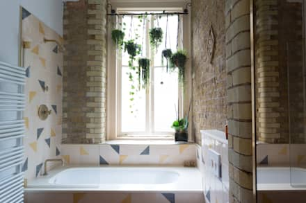 quirky flat hackney eclectic bathroom by cassidy hughes interior design