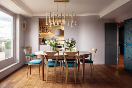 Art Deco Inspired Riverside Flat : Bermondsey: eclectic Dining room by Cassidy Hughes Interior Design