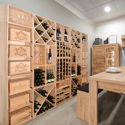 modern Wine cellar by Weinregal-Profi