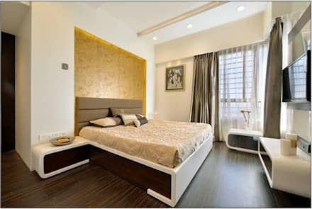 Guest room- Residence at DLF Phase IV, Gurugram: modern Bedroom by The Workroom