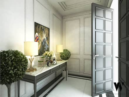 Ping House - Foyer Area:  Teras by w.interiorstudio