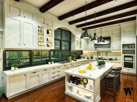 Ping House - Kitchen Area:  Dapur by w.interiorstudio