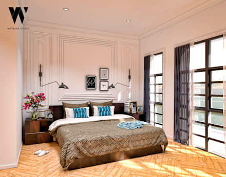 Ping House - Master Bedroom:  Kamar Tidur by w.interiorstudio