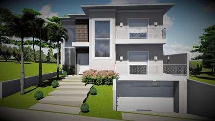 Casa inspiradora: Casas unifamilares  por Trivisio Consultoria e Projetos em 3D
