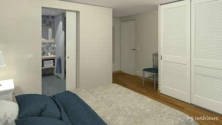 VERSION 2 - La chambre principale: Chambre de style de style Scandinave par MJ Intérieurs