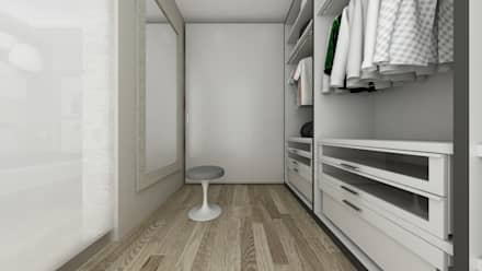 Villa NS: Spogliatoio in stile  di De Vivo Home Design